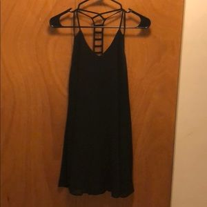 Black dress with open upper back